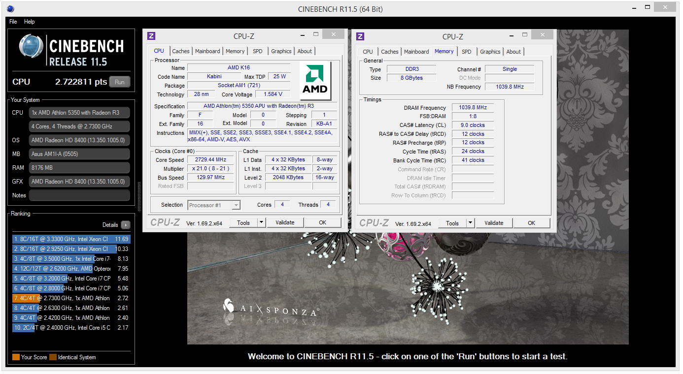 Amd Kabini Athlon 5350 At 2 7ghz 23 6s 1m Amd Cpu Overclocking Hwbot Community Forums
